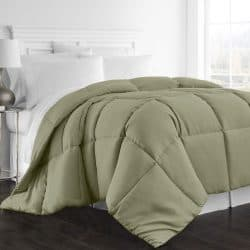 Beckham Hotel Collection 1300 Series - All Season - Luxury Goose Down Alternative Comforter - Hypoallergenic - Queen/Full - Sage