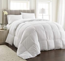 Chezmoi Collection, All Season Down Alternative, Comforter Duvet Insert, Queen, White