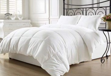 KingLinen White Down Alternative Comforter Duvet Insert with Conner Tabs Full/Queen